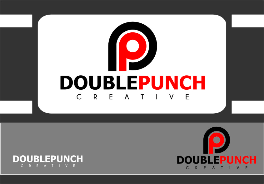 Logo Design by Ngepet_art - Entry No. 125 in the Logo Design Contest Unique Logo Design Wanted for Double Punch Creative.