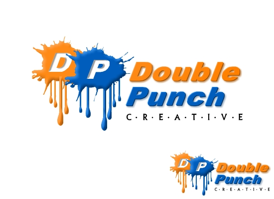 Logo Design by Ismail Adhi Wibowo - Entry No. 127 in the Logo Design Contest Unique Logo Design Wanted for Double Punch Creative.