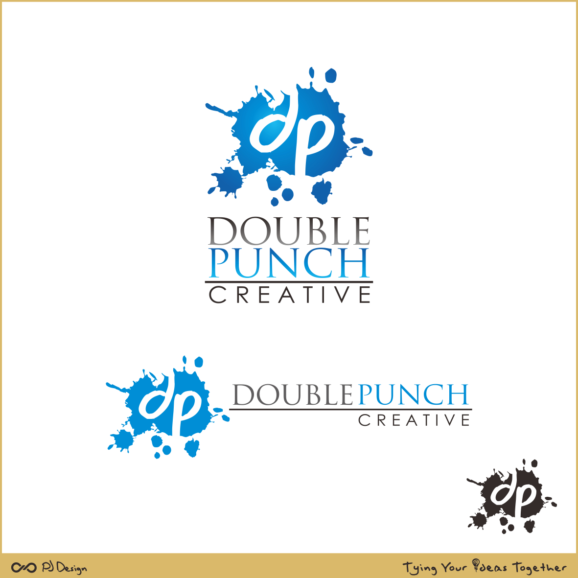 Logo Design by PJD - Entry No. 128 in the Logo Design Contest Unique Logo Design Wanted for Double Punch Creative.