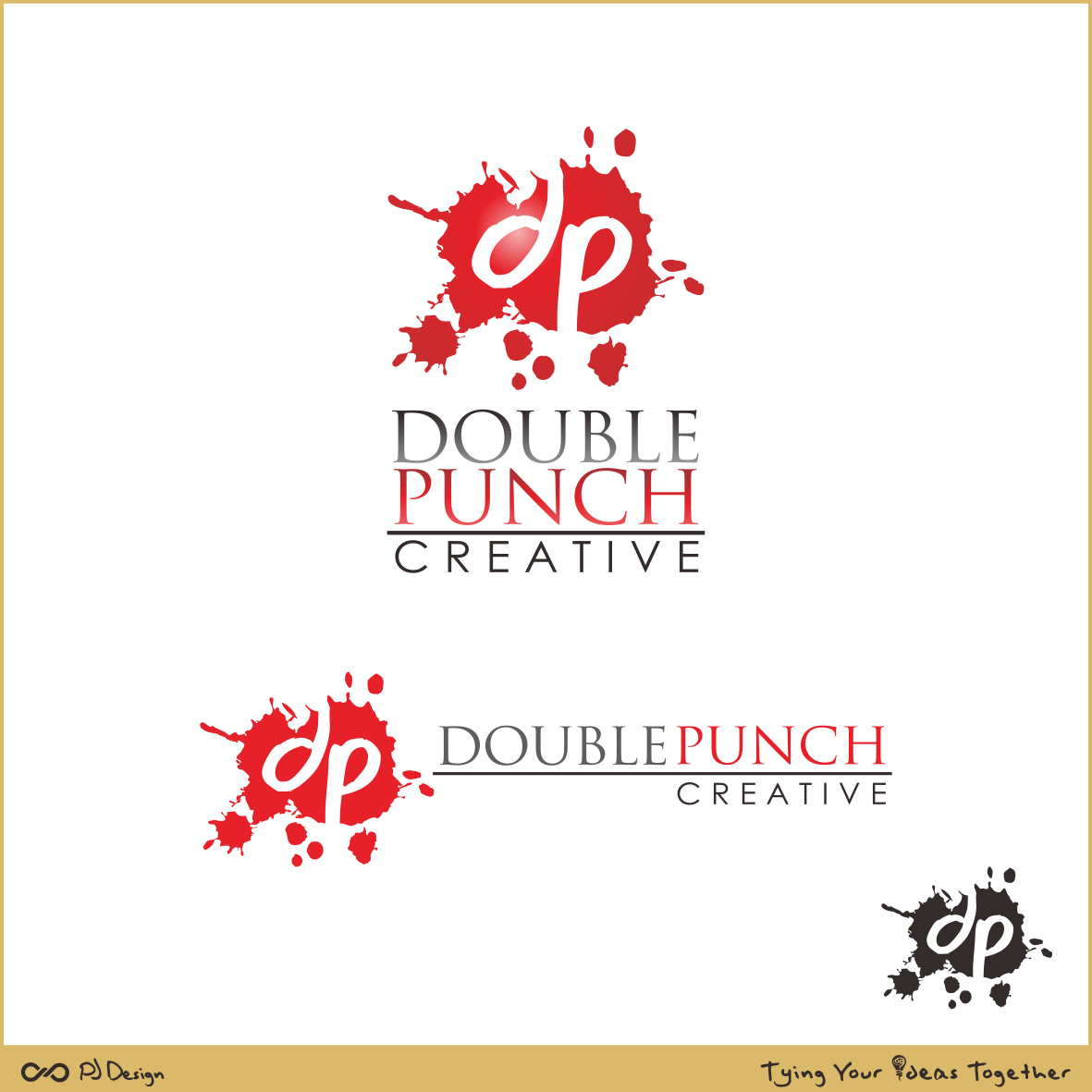 Logo Design by PJD - Entry No. 130 in the Logo Design Contest Unique Logo Design Wanted for Double Punch Creative.