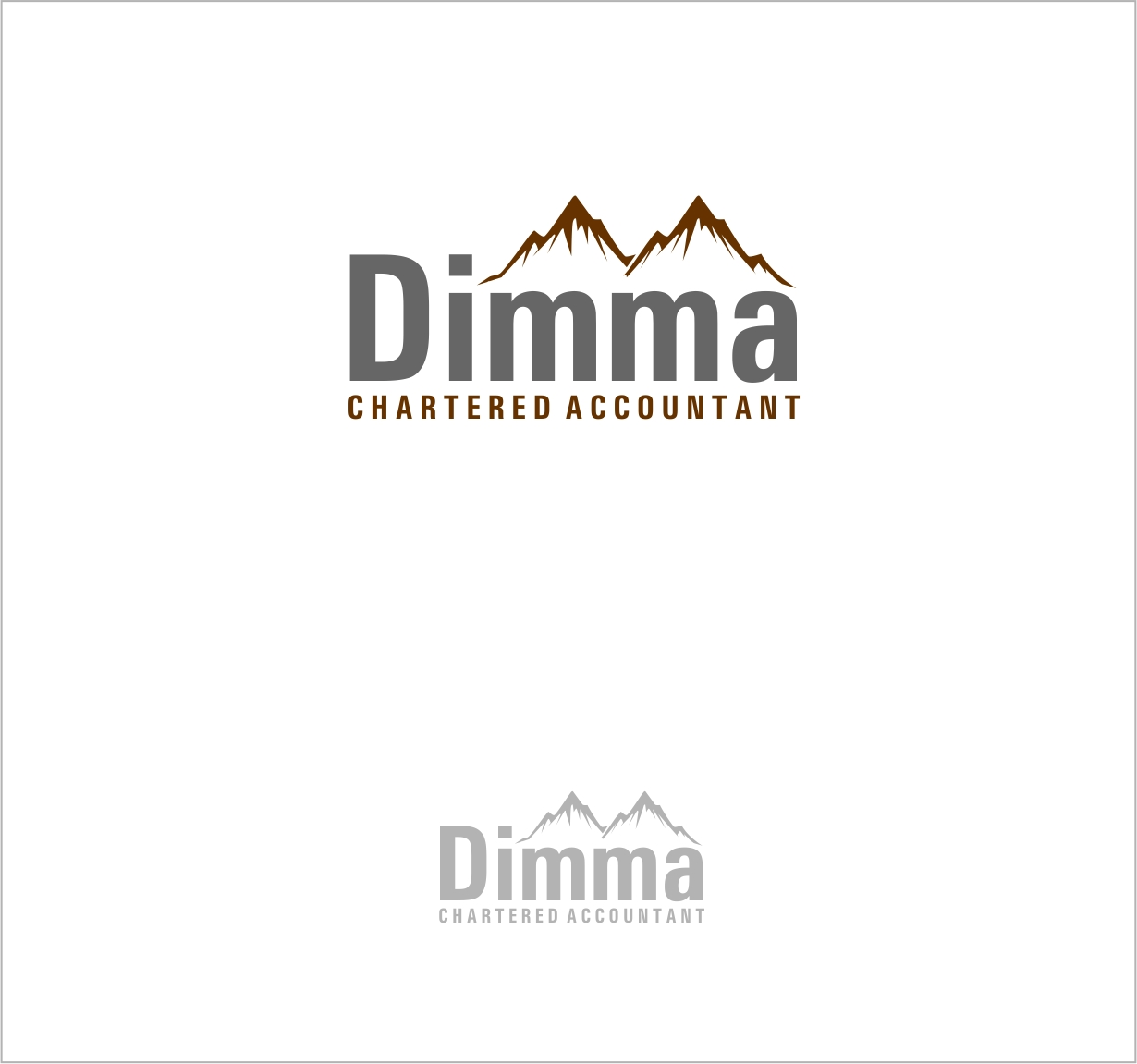Logo Design by haidu - Entry No. 168 in the Logo Design Contest Creative Logo Design for Dimma Chartered Accountant.