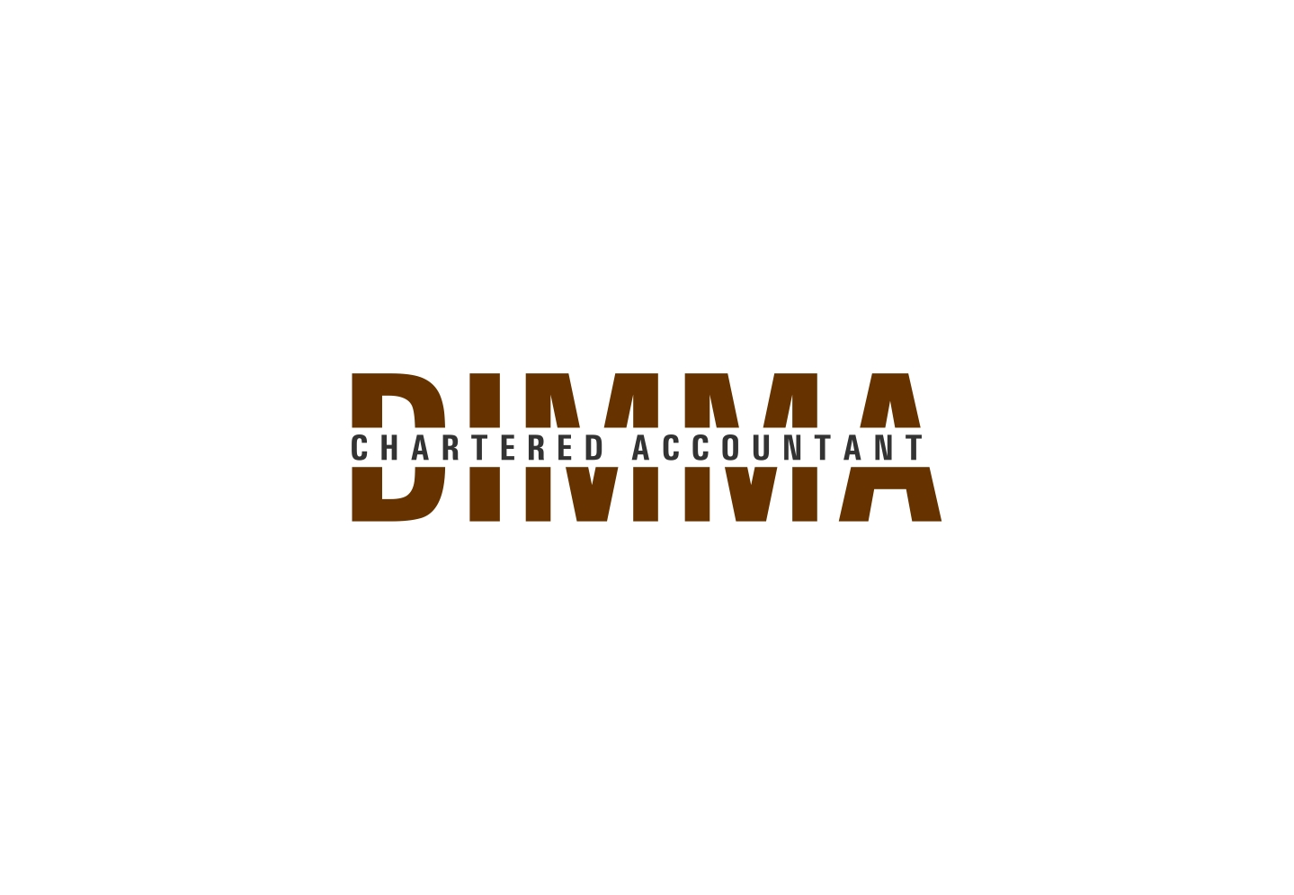 Logo Design by haidu - Entry No. 174 in the Logo Design Contest Creative Logo Design for Dimma Chartered Accountant.