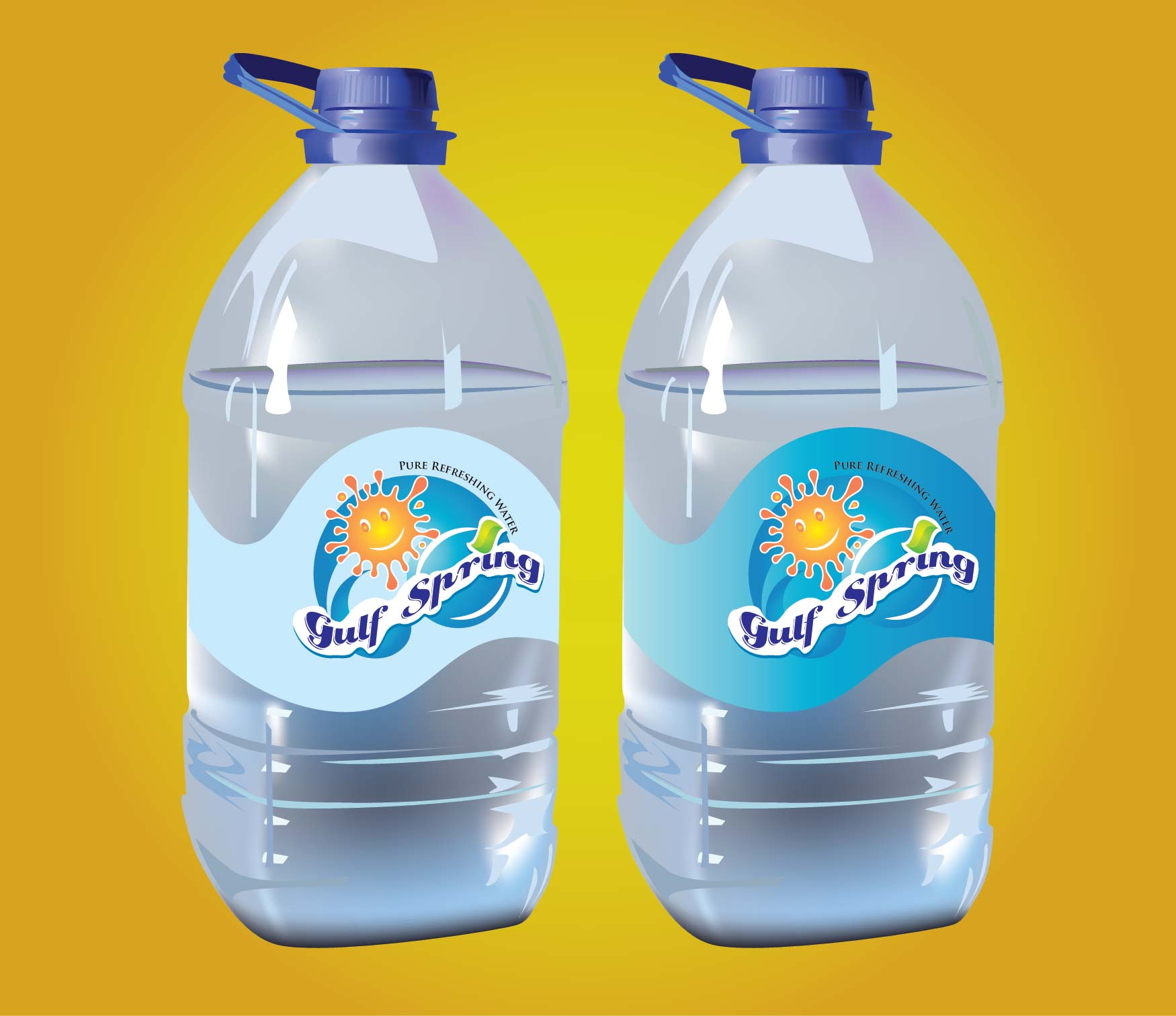 Logo Design by Mahida Kirit Chandrasinh - Entry No. 34 in the Logo Design Contest Inspiring Logo Design for Gulf Spring.