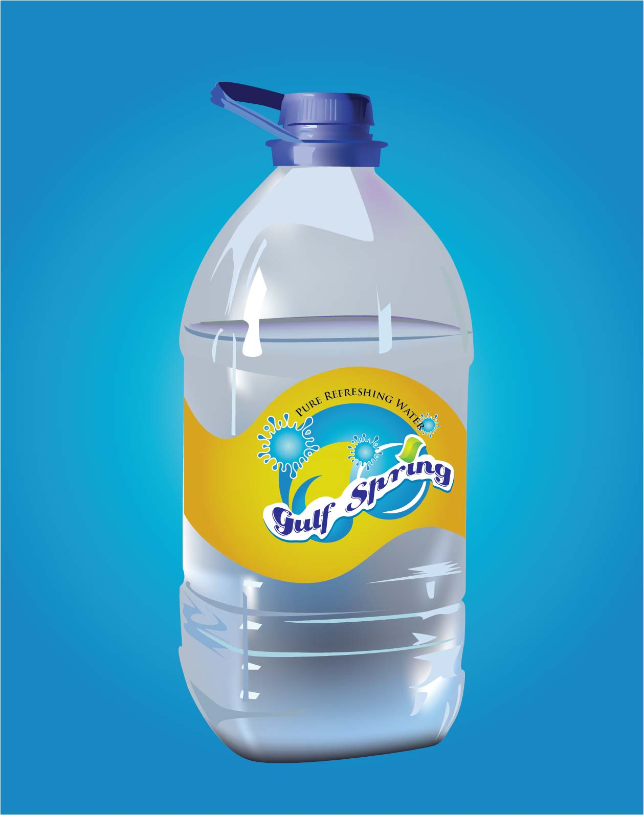 Logo Design by Mahida Kirit Chandrasinh - Entry No. 35 in the Logo Design Contest Inspiring Logo Design for Gulf Spring.