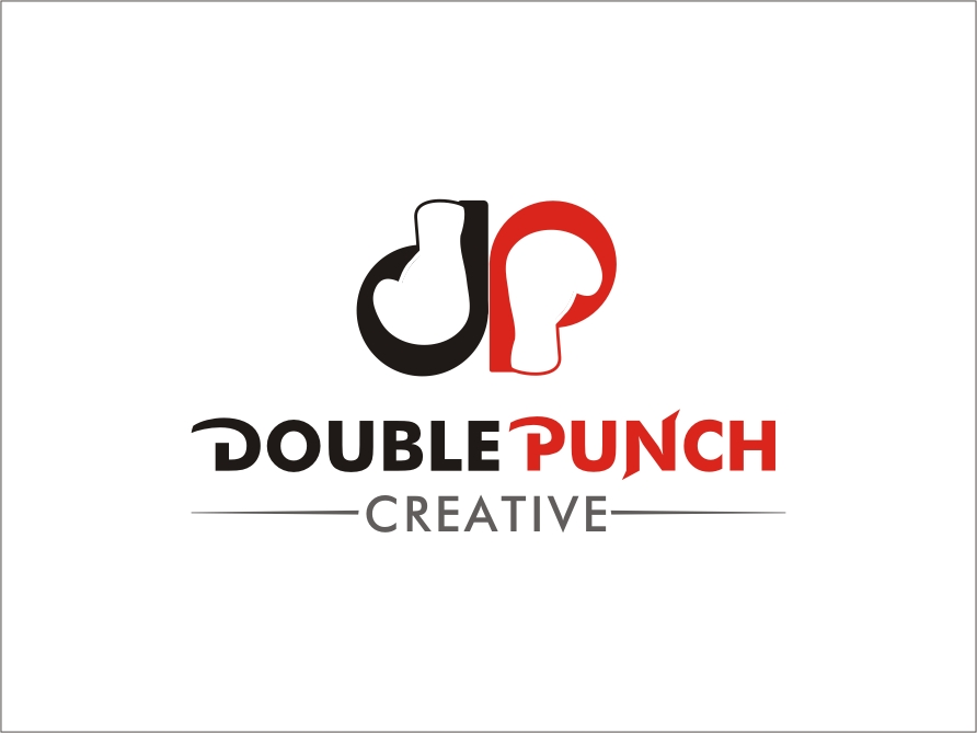Logo Design by RED HORSE design studio - Entry No. 154 in the Logo Design Contest Unique Logo Design Wanted for Double Punch Creative.