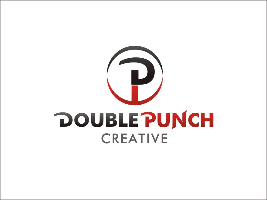 Logo Design by RED HORSE design studio - Entry No. 158 in the Logo Design Contest Unique Logo Design Wanted for Double Punch Creative.