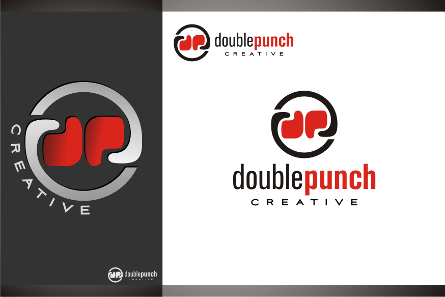 Logo Design by graphicleaf - Entry No. 161 in the Logo Design Contest Unique Logo Design Wanted for Double Punch Creative.