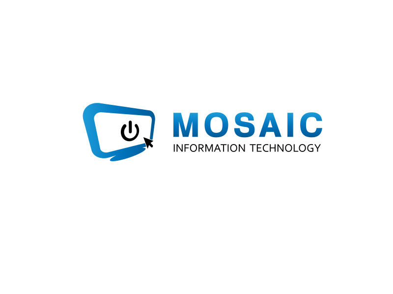 Logo Design by ddamian_dd - Entry No. 50 in the Logo Design Contest Mosaic Information Technology Logo Design.
