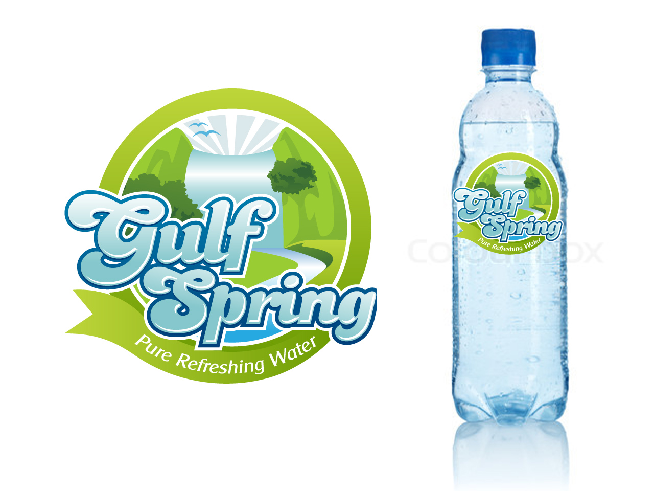 Logo Design by jpbituin - Entry No. 49 in the Logo Design Contest Inspiring Logo Design for Gulf Spring.