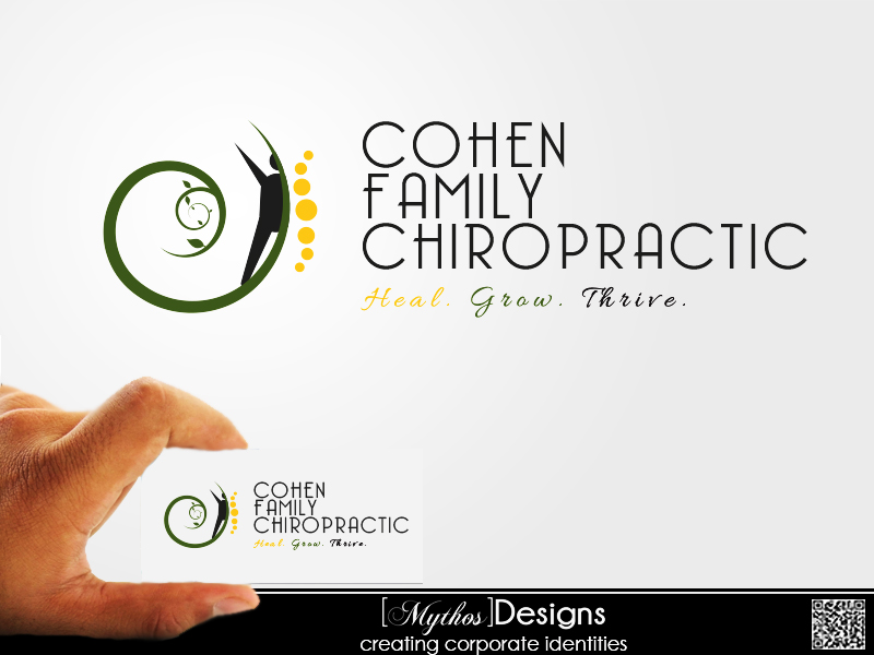 Logo Design by Mythos Designs - Entry No. 1 in the Logo Design Contest Unique Logo Design Wanted for Cohen Family Chiropractic.