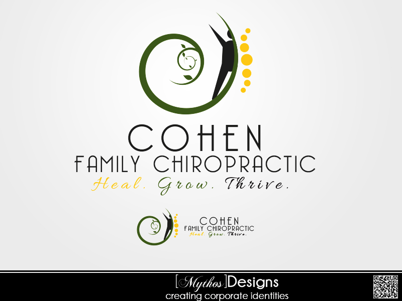 Logo Design by Mythos Designs - Entry No. 2 in the Logo Design Contest Unique Logo Design Wanted for Cohen Family Chiropractic.
