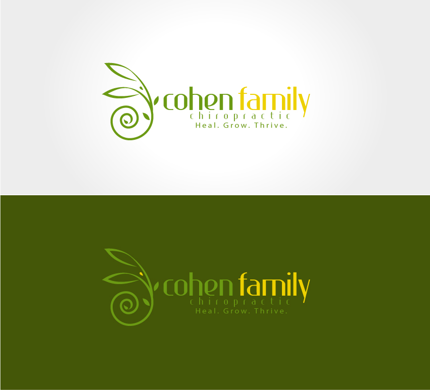 Logo Design by logodesign7434 - Entry No. 5 in the Logo Design Contest Unique Logo Design Wanted for Cohen Family Chiropractic.