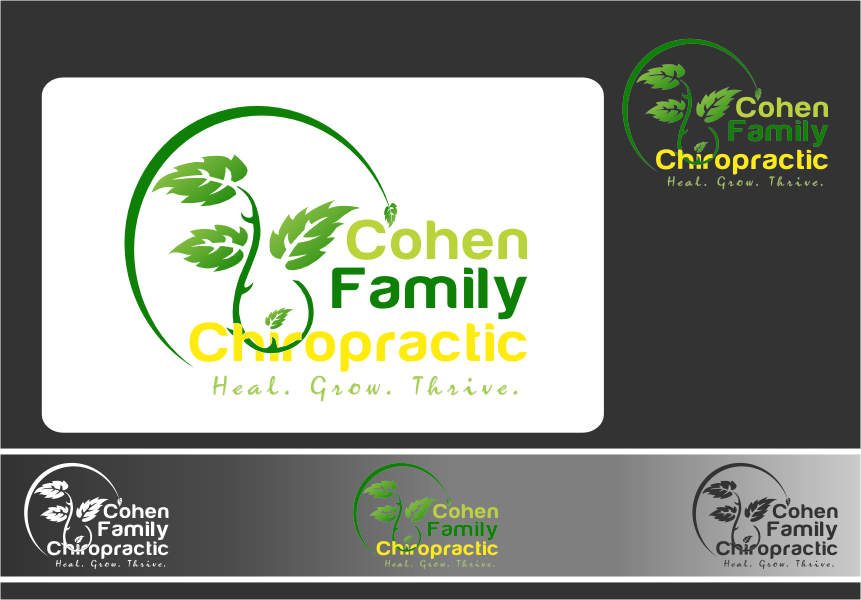 Logo Design by RasYa Muhammad Athaya - Entry No. 6 in the Logo Design Contest Unique Logo Design Wanted for Cohen Family Chiropractic.