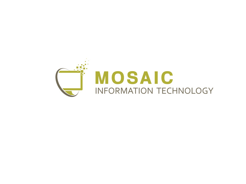 Logo Design by ddamian_dd - Entry No. 18 in the Logo Design Contest Mosaic Information Technology Logo Design.