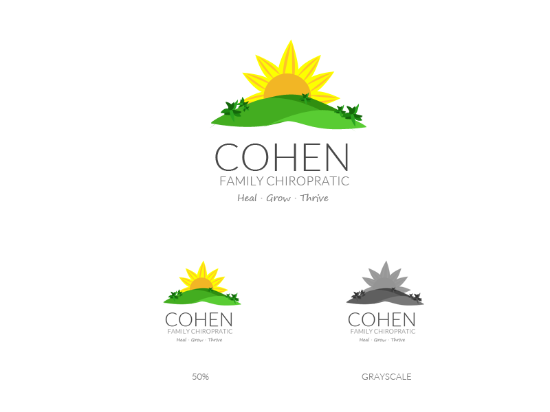 Logo Design by fabricapixel - Entry No. 10 in the Logo Design Contest Unique Logo Design Wanted for Cohen Family Chiropractic.