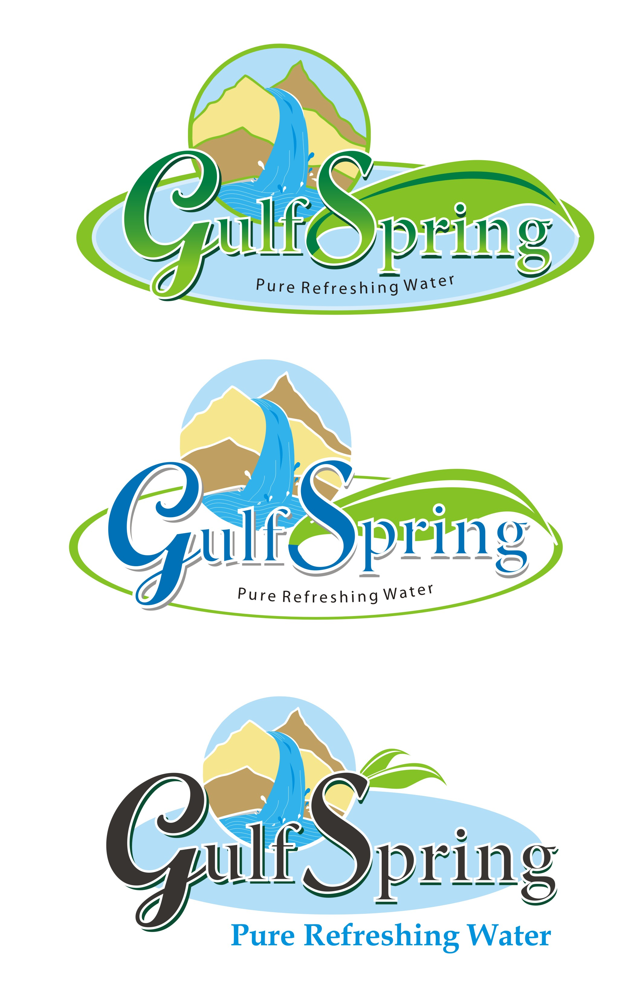 Logo Design by Mahida Kirit Chandrasinh - Entry No. 73 in the Logo Design Contest Inspiring Logo Design for Gulf Spring.