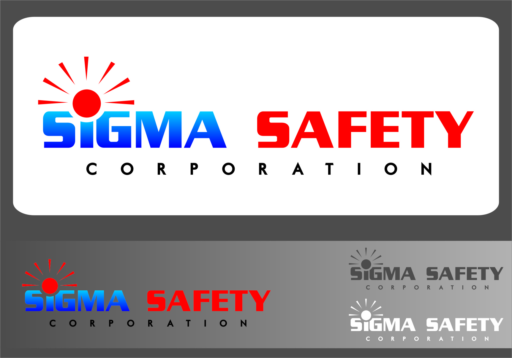Logo Design by RasYa Muhammad Athaya - Entry No. 206 in the Logo Design Contest Creative Logo Design for Sigma Safety Corporation.