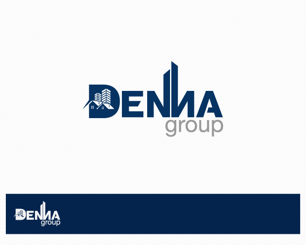 Logo Design by typography - Entry No. 28 in the Logo Design Contest Denna Group Logo Design.