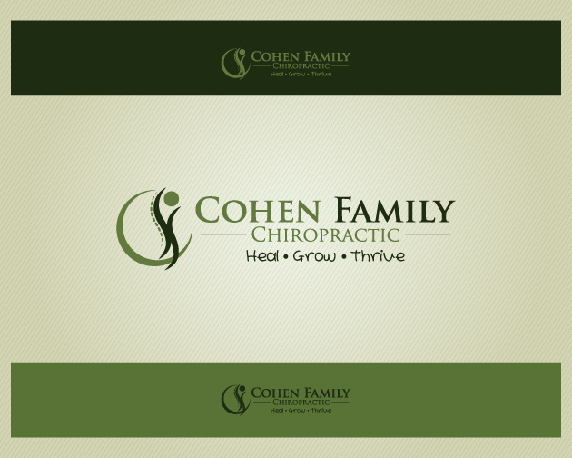 Logo Design by typography - Entry No. 17 in the Logo Design Contest Unique Logo Design Wanted for Cohen Family Chiropractic.