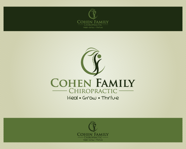 Logo Design by typography - Entry No. 18 in the Logo Design Contest Unique Logo Design Wanted for Cohen Family Chiropractic.