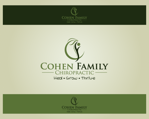Logo Design by typography - Entry No. 19 in the Logo Design Contest Unique Logo Design Wanted for Cohen Family Chiropractic.