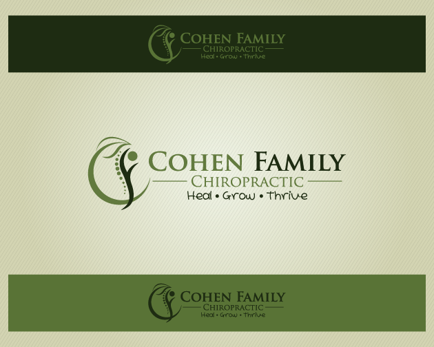 Logo Design by typography - Entry No. 20 in the Logo Design Contest Unique Logo Design Wanted for Cohen Family Chiropractic.