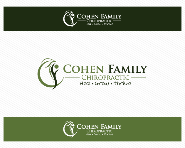 Logo Design by typography - Entry No. 21 in the Logo Design Contest Unique Logo Design Wanted for Cohen Family Chiropractic.