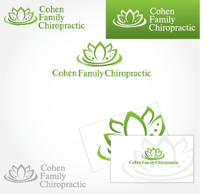 Logo Design by Private User - Entry No. 22 in the Logo Design Contest Unique Logo Design Wanted for Cohen Family Chiropractic.