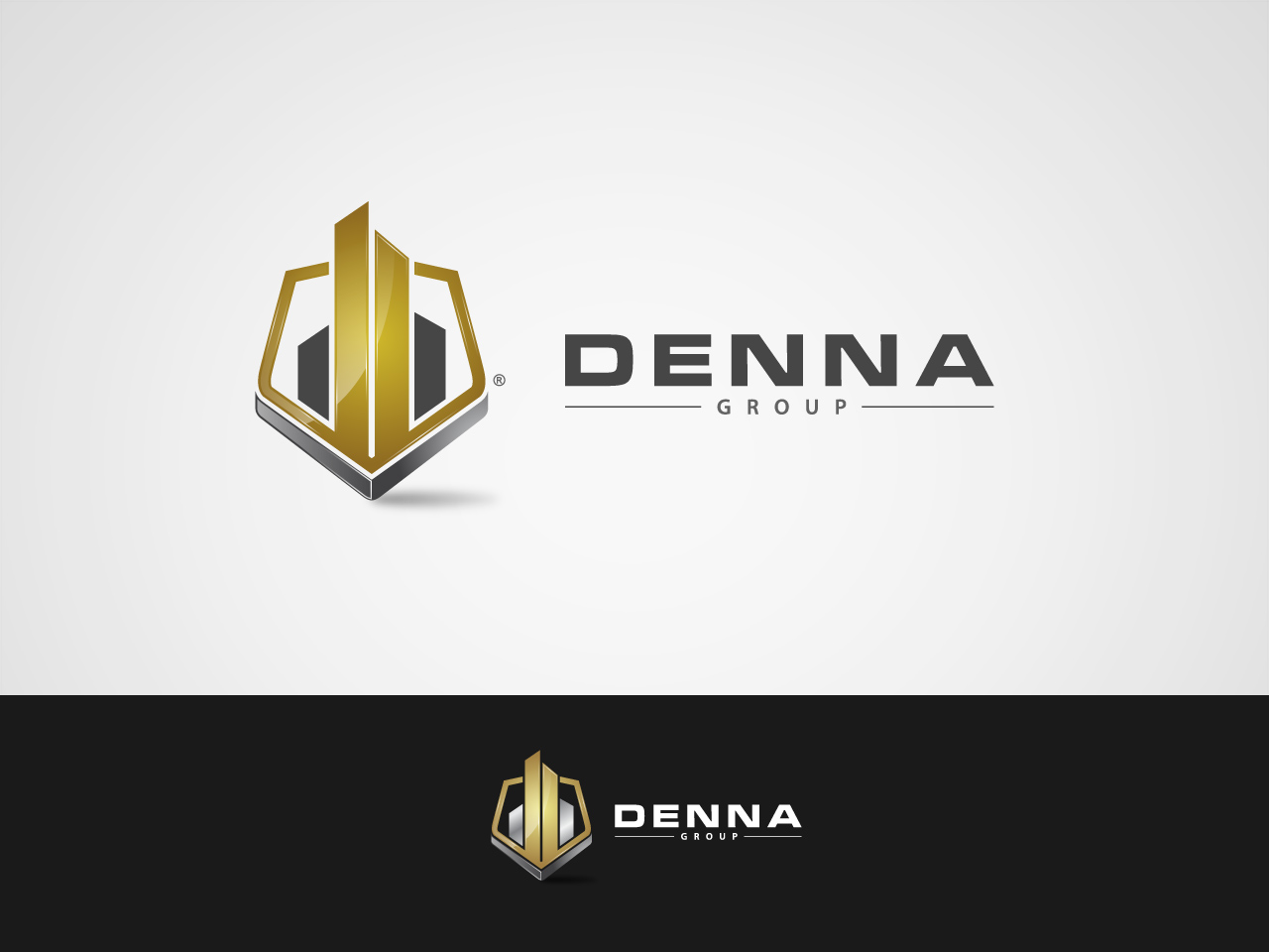 Logo Design by jpbituin - Entry No. 38 in the Logo Design Contest Denna Group Logo Design.