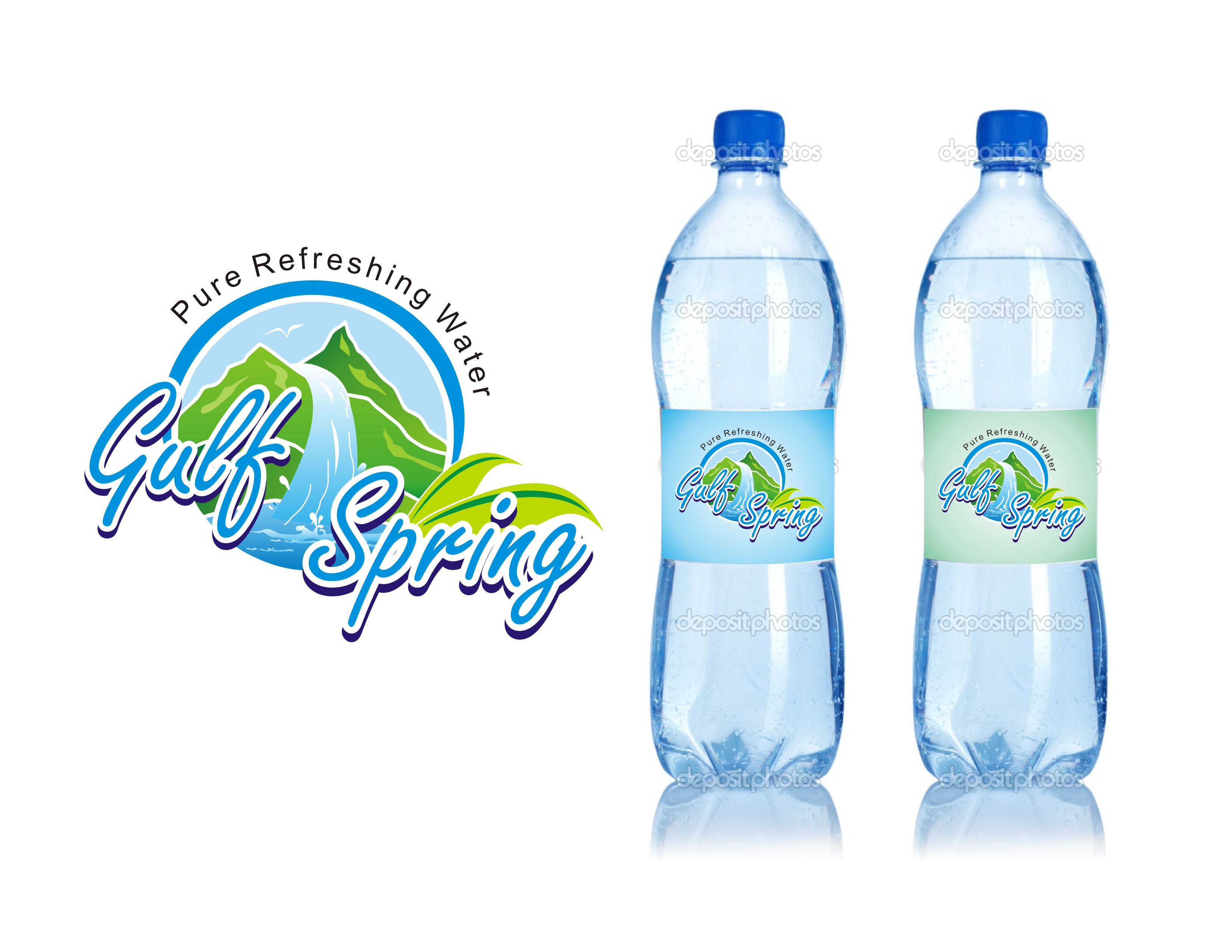 Logo Design by Mahida Kirit Chandrasinh - Entry No. 92 in the Logo Design Contest Inspiring Logo Design for Gulf Spring.
