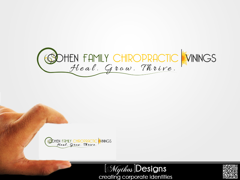 Logo Design by Mythos Designs - Entry No. 27 in the Logo Design Contest Unique Logo Design Wanted for Cohen Family Chiropractic.