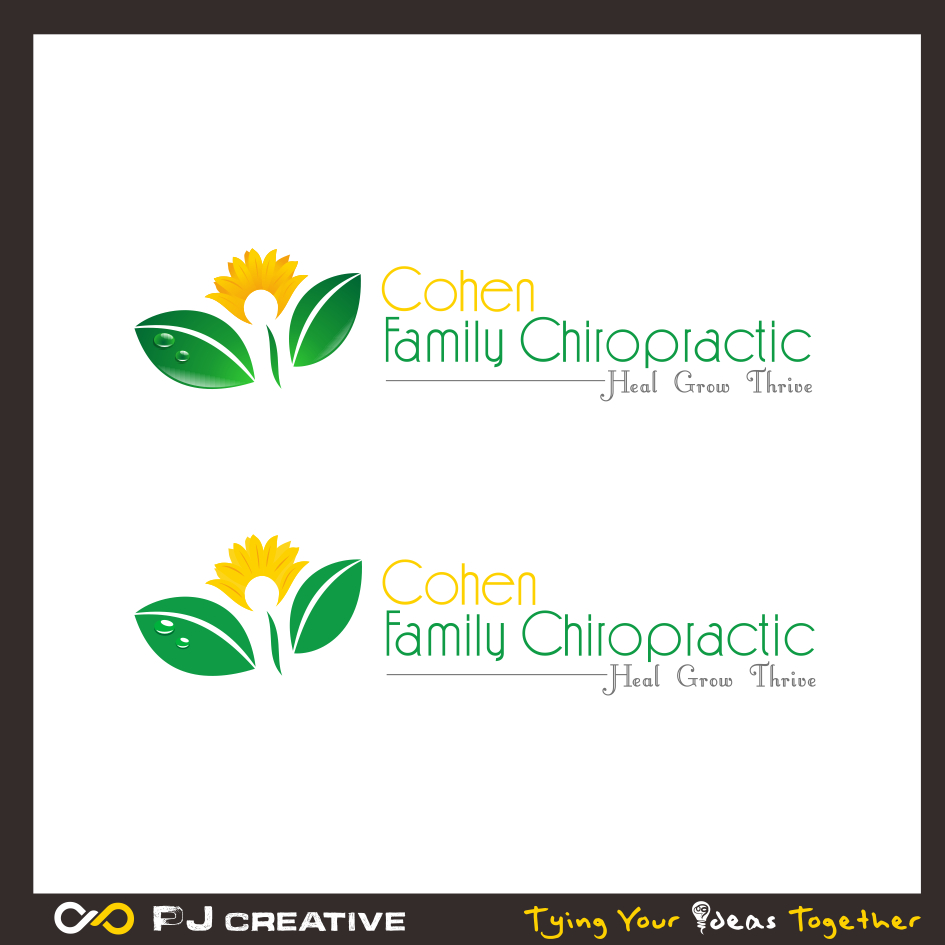 Logo Design by PJD - Entry No. 28 in the Logo Design Contest Unique Logo Design Wanted for Cohen Family Chiropractic.