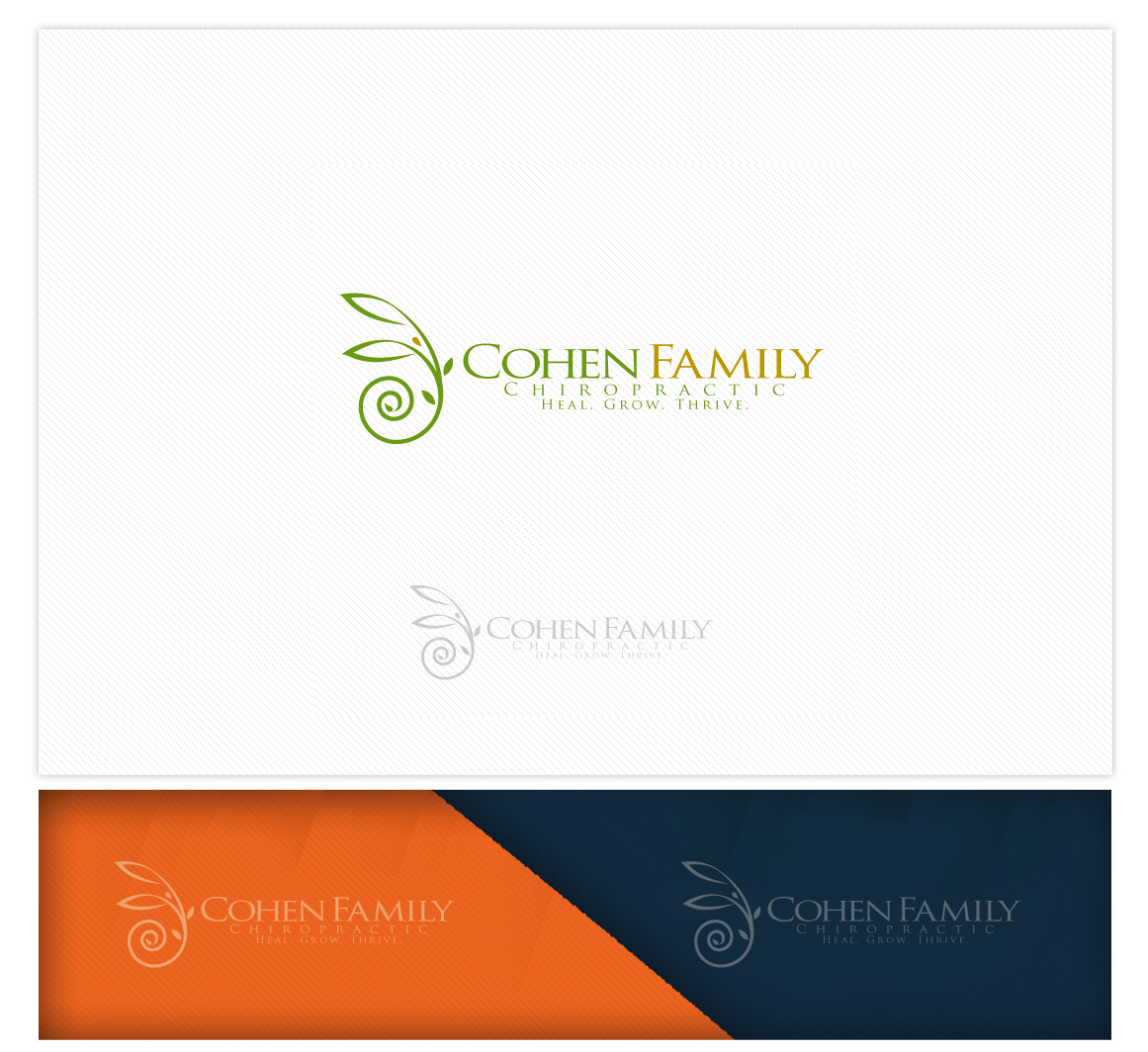 Logo Design by logodesign7434 - Entry No. 31 in the Logo Design Contest Unique Logo Design Wanted for Cohen Family Chiropractic.