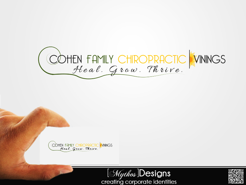Logo Design by Mythos Designs - Entry No. 34 in the Logo Design Contest Unique Logo Design Wanted for Cohen Family Chiropractic.