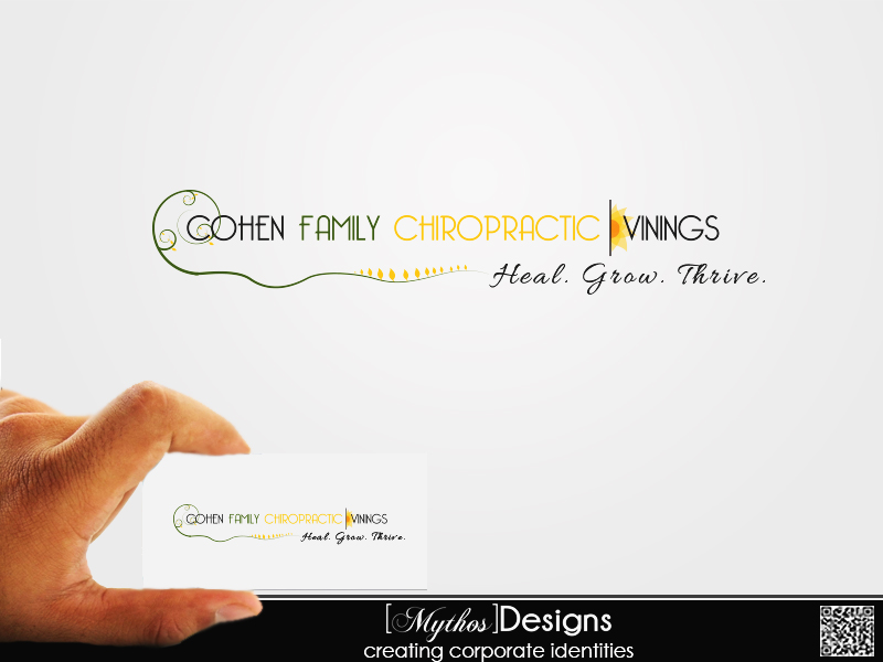 Logo Design by Mythos Designs - Entry No. 37 in the Logo Design Contest Unique Logo Design Wanted for Cohen Family Chiropractic.