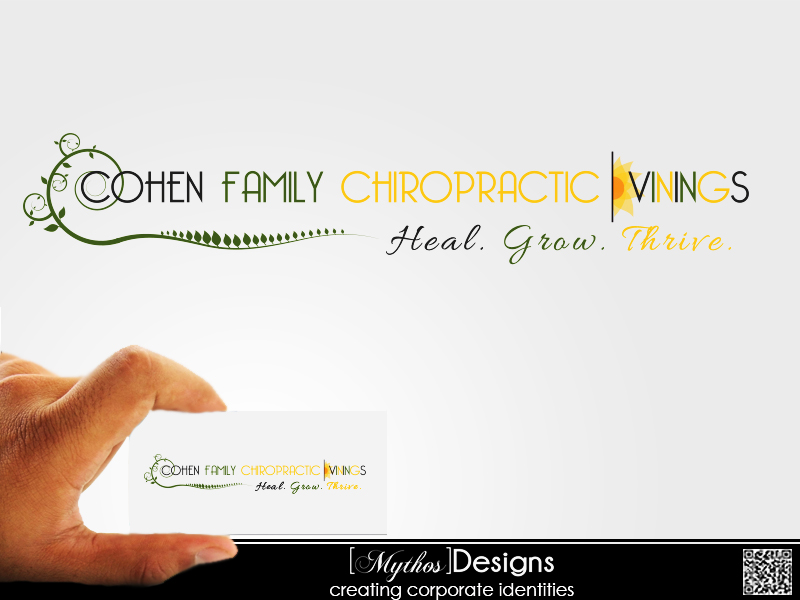 Logo Design by Mythos Designs - Entry No. 45 in the Logo Design Contest Unique Logo Design Wanted for Cohen Family Chiropractic.