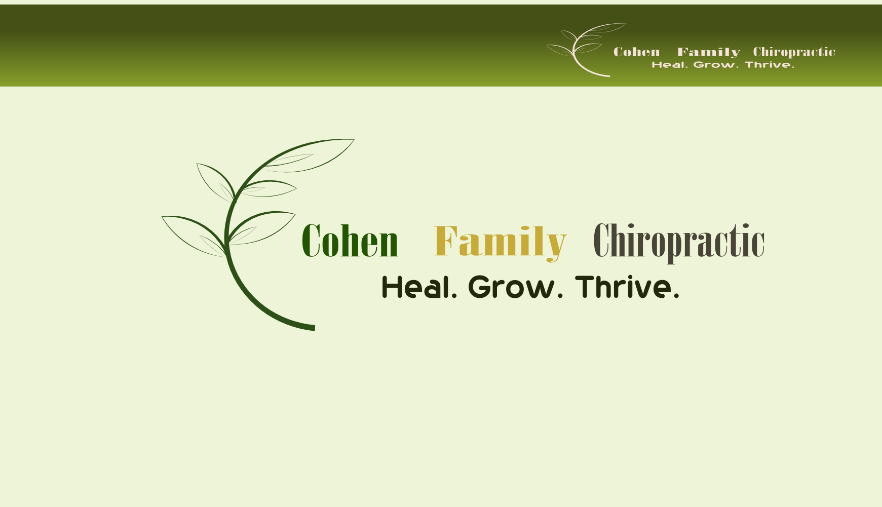 Logo Design by Arindam Khanda - Entry No. 47 in the Logo Design Contest Unique Logo Design Wanted for Cohen Family Chiropractic.