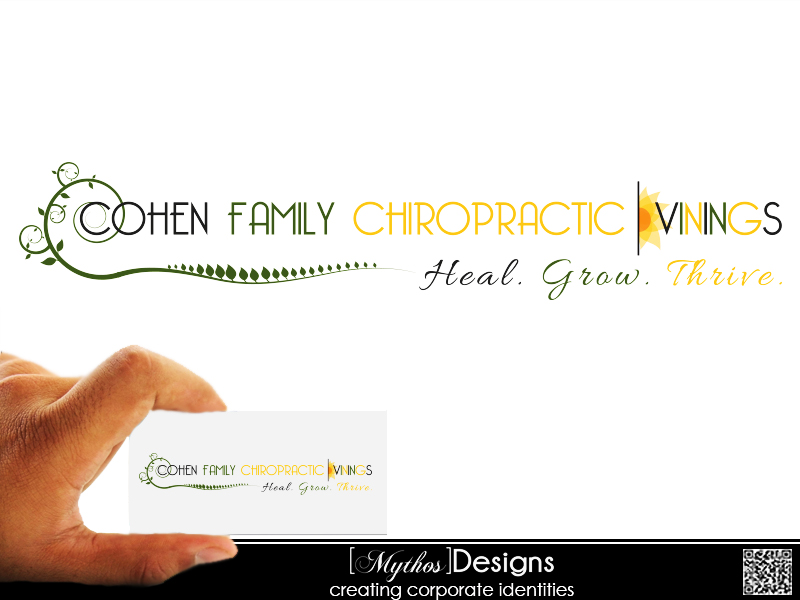 Logo Design by Mythos Designs - Entry No. 48 in the Logo Design Contest Unique Logo Design Wanted for Cohen Family Chiropractic.