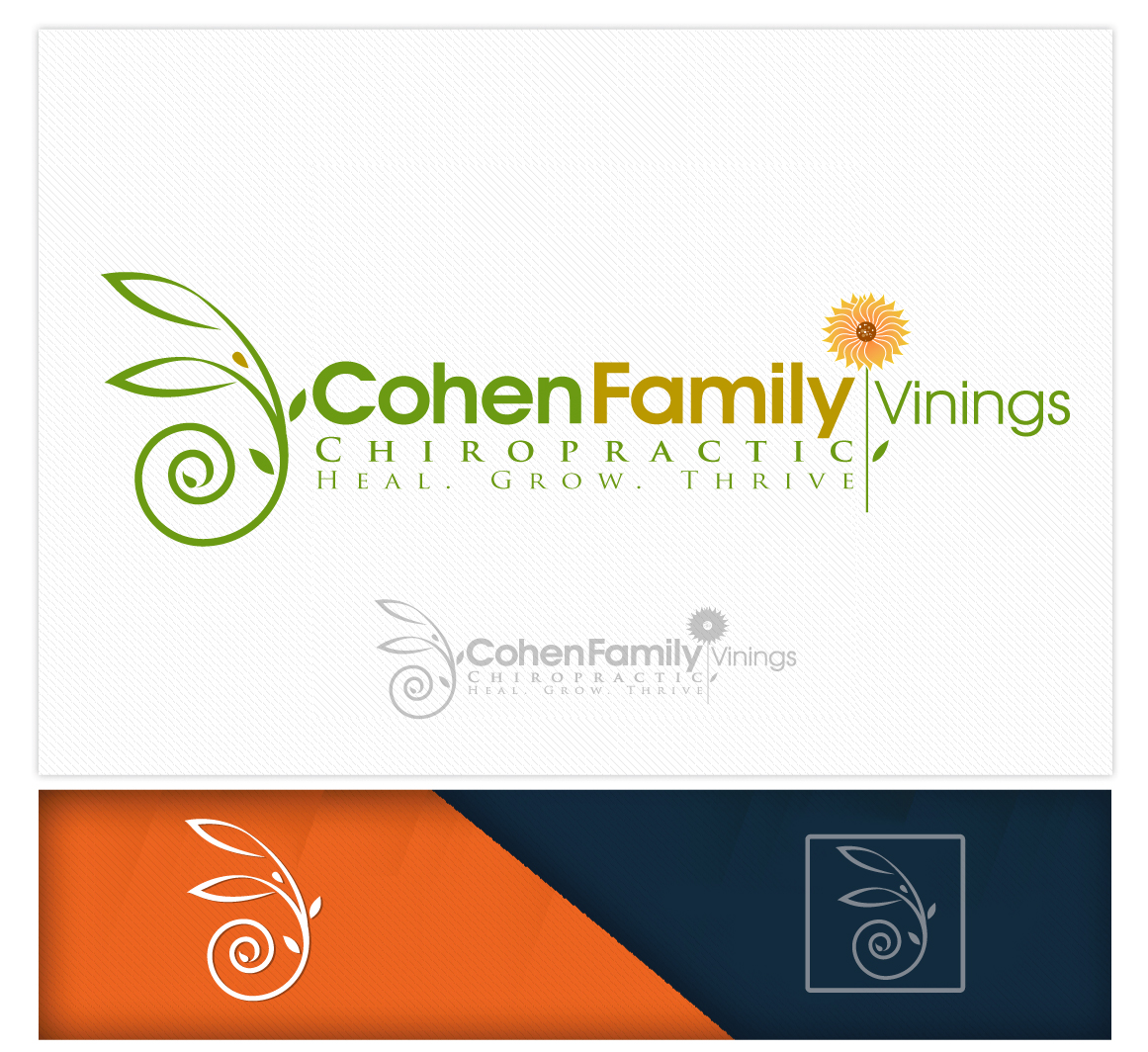 Logo Design by logodesign7434 - Entry No. 50 in the Logo Design Contest Unique Logo Design Wanted for Cohen Family Chiropractic.