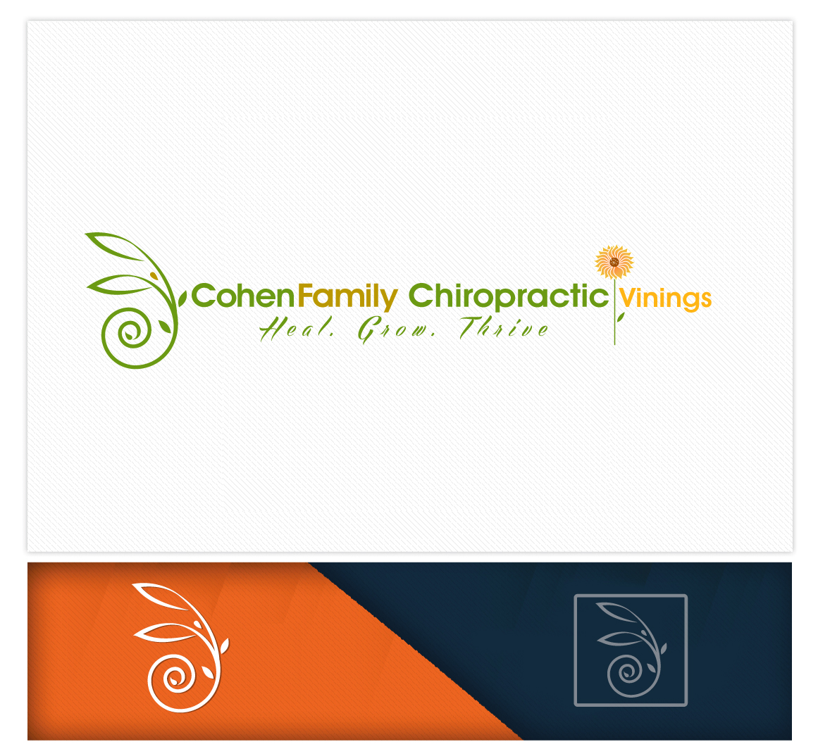 Logo Design by logodesign7434 - Entry No. 52 in the Logo Design Contest Unique Logo Design Wanted for Cohen Family Chiropractic.