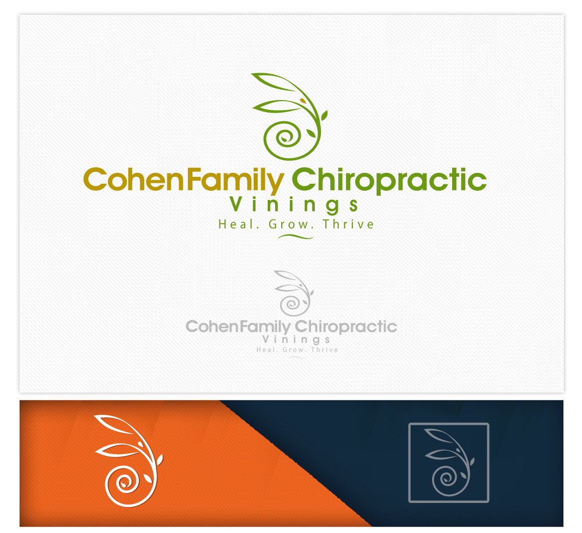Logo Design by logodesign7434 - Entry No. 53 in the Logo Design Contest Unique Logo Design Wanted for Cohen Family Chiropractic.