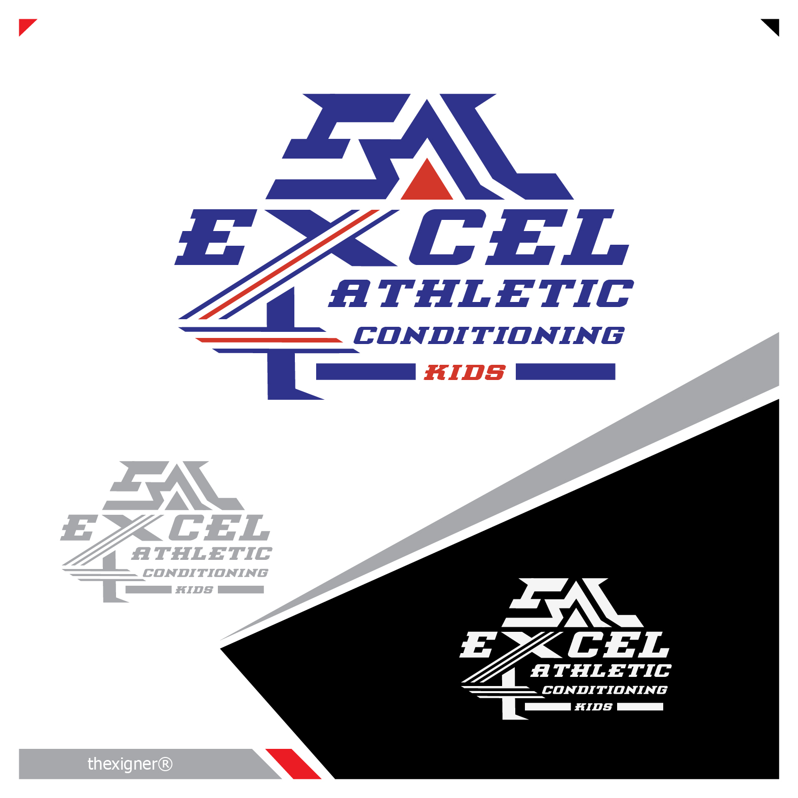 Logo Design by lagalag - Entry No. 50 in the Logo Design Contest Artistic Logo Design for Excel Athletic Conditioning 4 kids.