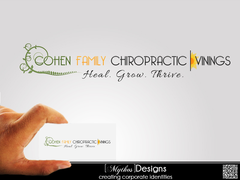 Logo Design by Mythos Designs - Entry No. 55 in the Logo Design Contest Unique Logo Design Wanted for Cohen Family Chiropractic.