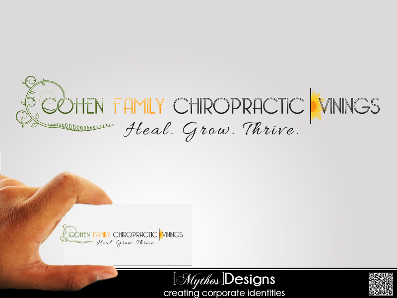 Logo Design by Mythos Designs - Entry No. 57 in the Logo Design Contest Unique Logo Design Wanted for Cohen Family Chiropractic.