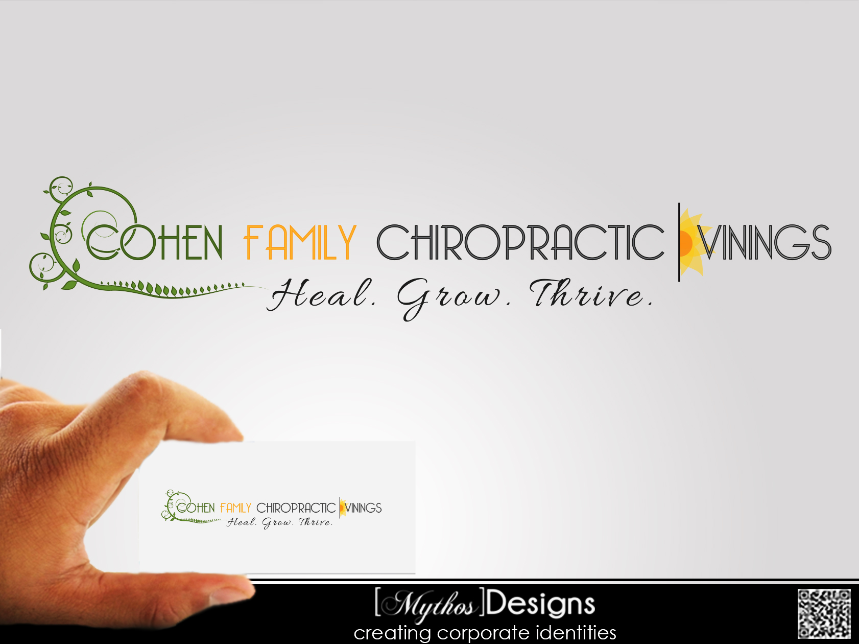 Logo Design by Mythos Designs - Entry No. 58 in the Logo Design Contest Unique Logo Design Wanted for Cohen Family Chiropractic.