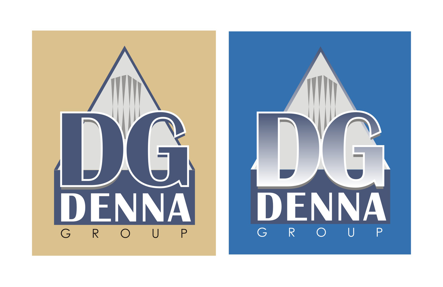 Logo Design by Mahida Kirit Chandrasinh - Entry No. 99 in the Logo Design Contest Denna Group Logo Design.