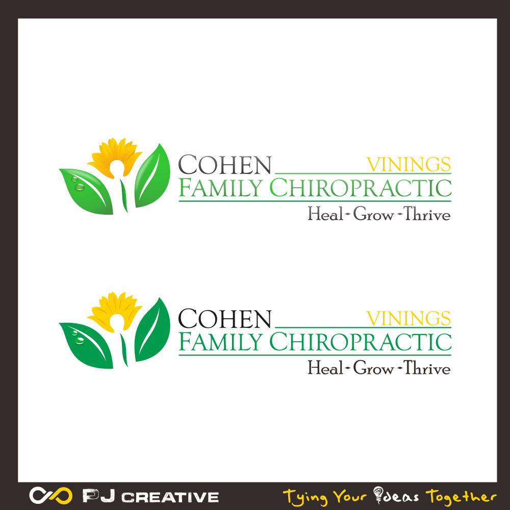 Logo Design by PJD - Entry No. 60 in the Logo Design Contest Unique Logo Design Wanted for Cohen Family Chiropractic.