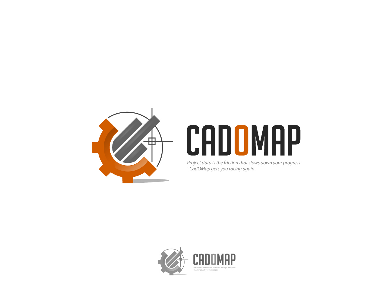 Logo Design by jpbituin - Entry No. 5 in the Logo Design Contest Captivating Logo Design for CadOMap software product.