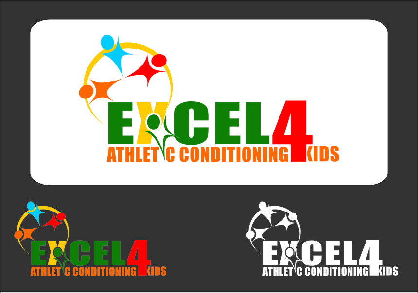 Logo Design by RoSyid Rono-Rene On Java - Entry No. 66 in the Logo Design Contest Artistic Logo Design for Excel Athletic Conditioning 4 kids.