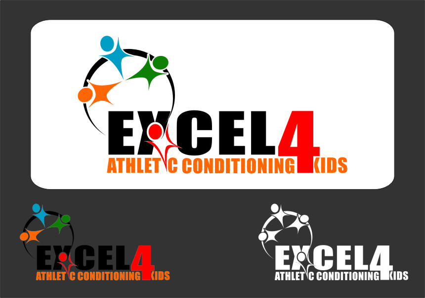 Logo Design by RoSyid Rono-Rene On Java - Entry No. 68 in the Logo Design Contest Artistic Logo Design for Excel Athletic Conditioning 4 kids.
